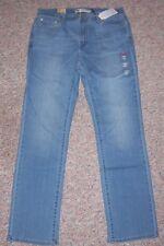 LEVI'S Blue Denim 505 Straight Leg Mid-Rise Jeans Size 10 or 30 Inseam 33 NWT