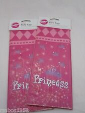 Wilton Princess Party Treat Bags Lot of 2 Pkgs of 20 bags PER Pkg 40 Pcs Total