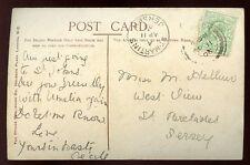 Islas del Canal Jersey 1906 PPC bien St Martins recibir PMK Local St Brelades
