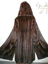 Real Ranch de piel de visón saga de abrigo Chaqueta de oscilación Capucha Vison норка Sable 14 -16 -18