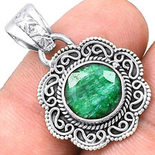 Emerald 925 Sterling Silver Pendant Jewelry SDP5648