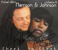 CHEEK TO CHEEK MICHAEL HARRISON & JULIANNE JOHNSON AUTOGRAPH SIGNED MUSIC CD #43