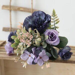 Artificial Silk Peony Head Autumn Flower Fake Hydrangea Wedding Home Diy Bouquet
