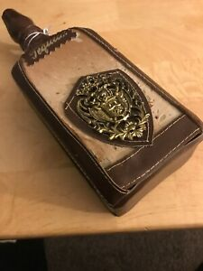 Vintage Leather Tequila Decanter