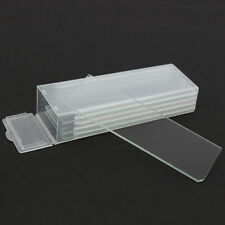 5pcs Reusable Laboratorial Single Microscope Blank Glass Slides 1mm