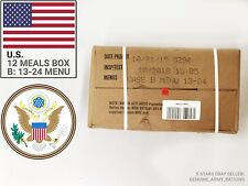 US Army Rations box B. Military meals ready to eat (MRE). Inspect date 2019-05