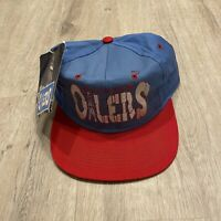 Vintage Universal Houston Oilers Hat RARE NEW NFL Snapback Cap VTG 90s Blue Red