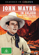 John Wayne GUNS ALONG THE TRAIL & STAGECOACH RUN - 2 COLOUR FILMS 2 DISC SET DVD