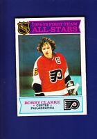 Bobby Clarke AS HOF 1975-76 O-PEE-CHEE OPC Hockey #286 (VGEX) Flyers