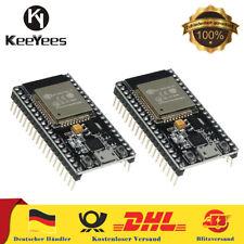 2 Stücke ESP32 ESP-32S NodeMCU Modul 2.4 GHz WiFi Bluetooth mit CP2102 Chip