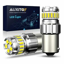 2X AUXITO 1156 BA15S P21W 7506 LED Backup Reverse Bulbs Lamps White 6500K Light