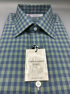 TURNBULL & ASSER Check Shirt, UK:16.5, EU: 42, RRP: £215!  NEW WITH TAGS