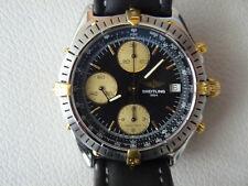 Breitling Chronomat Stahl Gold mit schwarzem Zifferblatt