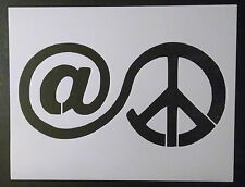 """@ At Peace Sign 8.5"""" x 11"""" Custom Stencil FAST FREE SHIPPING"""