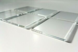 Acrylic Stamping Block 3mm Thick 6 Pack of 45mm x 55mm Slip Sceen Pads