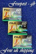 3x FUJI DVM-60/ 90 MINUTE MINI DV DIGITAL CAMCORDER TAPES/ CASSETTES TOP QUALITY