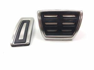 AUDI VW SEAT SKODA BRAKE / ACCELERATOR CHROME PEDAL COVER 5Q2721647A / 11585367