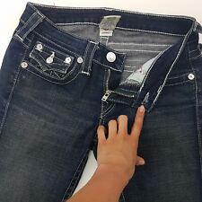 True Religion JULIE Womens Jeans W27 L28 Dark Blue Slim Fit Skinny Low Rise