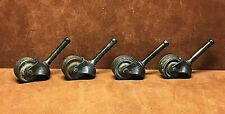 "(4) Vintage 1"" Diameter Metal Wheel Furniture Casters 1 1/2"" Stems FREE SHIPPING"