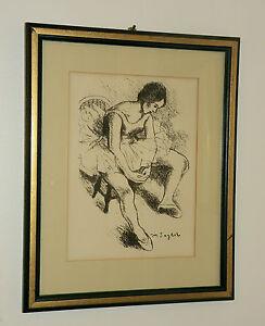 "Moses Soyer  ""Ballerina""  Original Lithograph With COA, Framed, NICE!!"