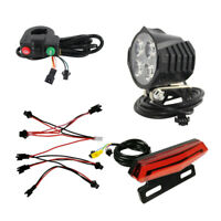 Ebike Bicycle Headlight Taillight Front Rear Sets with Turning/Brake Light &Horn