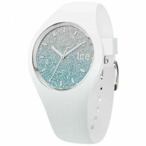 Armbanduhr Ice Watch Damenuhr Analog Silikon Dornschließe Mineralglas weiß blau