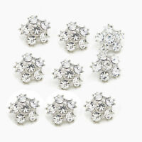 8 Pcs Rhinestone Crystal Buttons Wedding Dress Shank Buttons Embellishment DIY