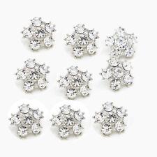 8 Pcs Rhinestone Crystal Buttons Wedding Dress Shank Buttons Embellishment DIY