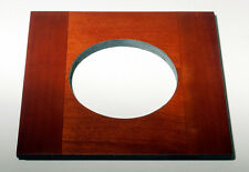 """1 Wooden lens board 4-13/16""""x 4-3/4"""" for SENECA Improved View Camera 65 mm hole"""