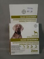 NIB Bayer Quad Chewable Dewormer for Large Size Dogs 45+ pounds 2/2021