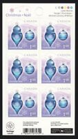 CHRISTMAS ORNAMENT = FULL Booklet = Canada 2010 #2414a MNH
