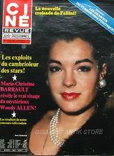 Ciné Revue n°7 - 1980 - Marie Christine Barrault - Alain Delon  - Sophia Loren