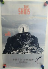 THE SHINS Port Of Morrow AUTOGRAPH PROMO POSTER Signed JAMES MERCER Indie Rock