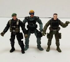 """Lot of 3 Chap Mei Military / Police Rescue Soldiers Army 4"""" Action Figures Toy"""