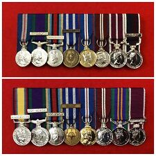 8 x Supplied & Court Mounted Miniature Medal Group Choose Your Miniature Medals
