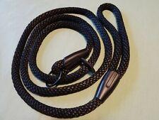 Dog lead 1.5 meters in length, black, 14mm Diameter braided polypropylene rope.