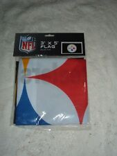 """PITTSBURGH STEELERS  DELUXE POLYESTER 3"""" X 5""""  USS LOGO HOUSE FLAG    NEW SEALED"""