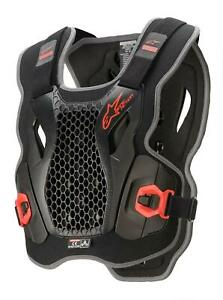ALPINESTARS ACTION CHEST PROTECTOR BLACK/RED M/L BODY ARMOUR MX MOTOCROSS