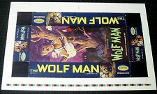 """1962 Wolfman Aurora Model Box Made Into A Cool Framable 13x20"""" *Poster* Must See"""
