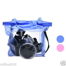 Digital Camera Waterproof DSLR Case Bag Underwater Pouch Bags For Canon For Sony