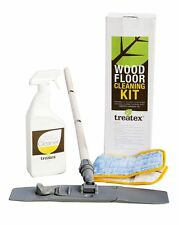 Treatex Wood Floor Cleaning Kit 1193 - Contains Mop-Handle / Spray on Floor Care
