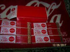 Coca Cola 6 Set 12 Coke PENCILS BOX 1950 1960 NIB LTD
