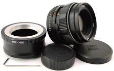 ⭐NEW⭐ MC KMZ HELIOS 44m-4 USSR Lens + Adapt. E-Mount Sony α A 7 7R 7S II III A9