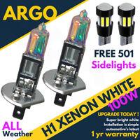 H1 + 501 100w Xenon Ultra Super White Headlights Side light Led Cree Bulbs 12v
