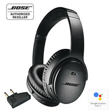 BOSE QC35 ii Wireless Noise Cancelling Headphones BLACK with airline adapter