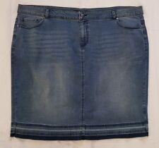 Ladies size 26 Stretch Denim Frayed Skirt - Studio East