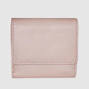 Buxton Florence II RFID Mini Billfold Blush Women's Wallet NEW