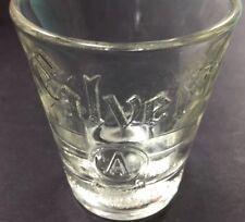 """Vintage MC Calvert Reserve """"A"""" Blended Whiskey Advertising Shot Glass Barware"""
