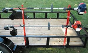 JUNGLE JIM'S 2 TRIMMER TRAILER RACK SYSTEM HOLD 2 TRIMMERS 2TR