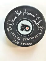 Philadelphia Flyers Dave The Hammer Schultz Autographed Puck